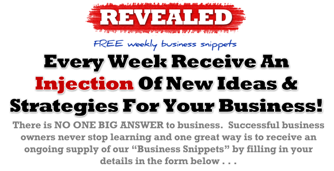 Free weekly business snippets
